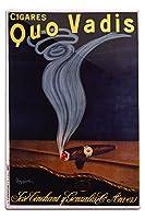cigares Quo Vadisヴィンテージポスター(アーティスト: Leonetto CappielloフランスC。1911 12 x 18 Metal Sign LANT-59196-12x18M
