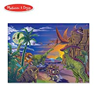 Melissa & Doug Land恐竜のジグソーパズル 1372