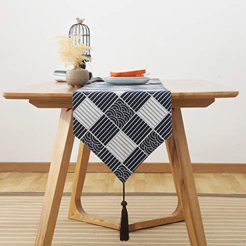 格子 テーブルランナー ホームデコレーション 日本式スタイル 工芸品 おしゃれ 結婚式 パーティー エレガント モダン シンプル (Color : B, Size : 31*200cm)