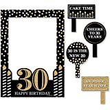 Bigドットの幸せのAdult 30th Birthday – ゴールド – 誕生日パーティー写真ブース画像フレーム& Props – 頑丈な素材にプリント