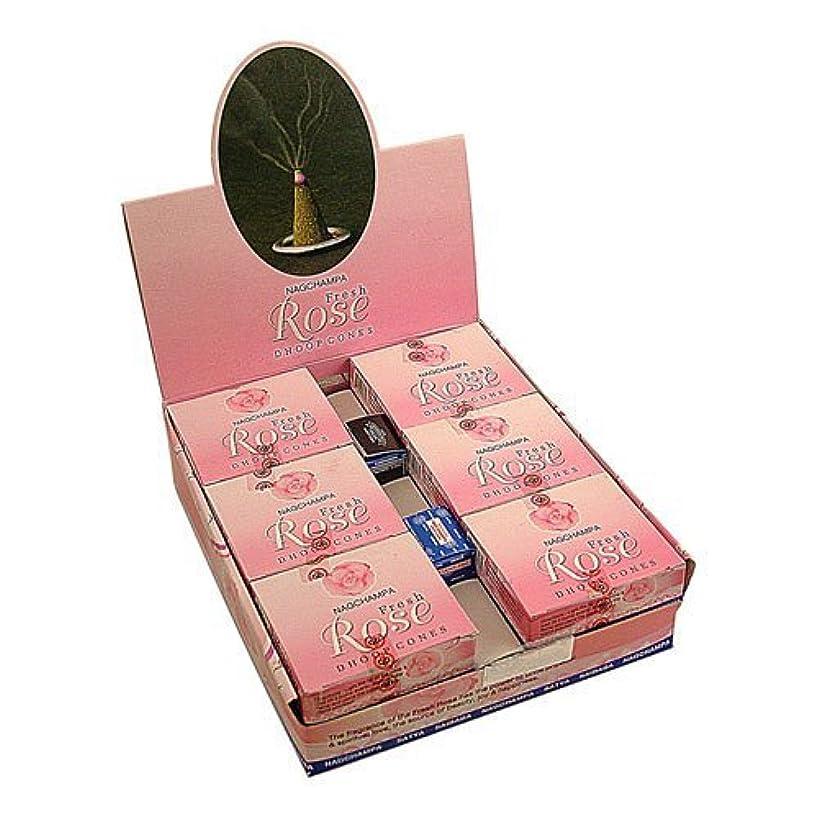 指令大宇宙ほめるSatya Nag Champa Rose Incense Cones x 12 Packs