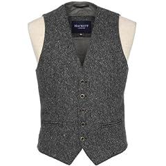 Hackett Tweed Waistcoat: Grey