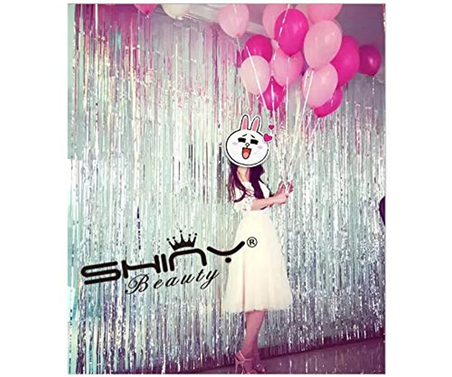 [Unknown]Unknown ShiDianYi Tinsel Foil FringeCurtain3FTX8FTSilver Metallic Door Window Backdrops/Curtain Party [並行輸入品]