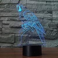 WZYMNYD 3Dナイトライト漫画かわいい鳥多色7色の雰囲気を変える光タッチスイッチとしての贈り物や家の装飾