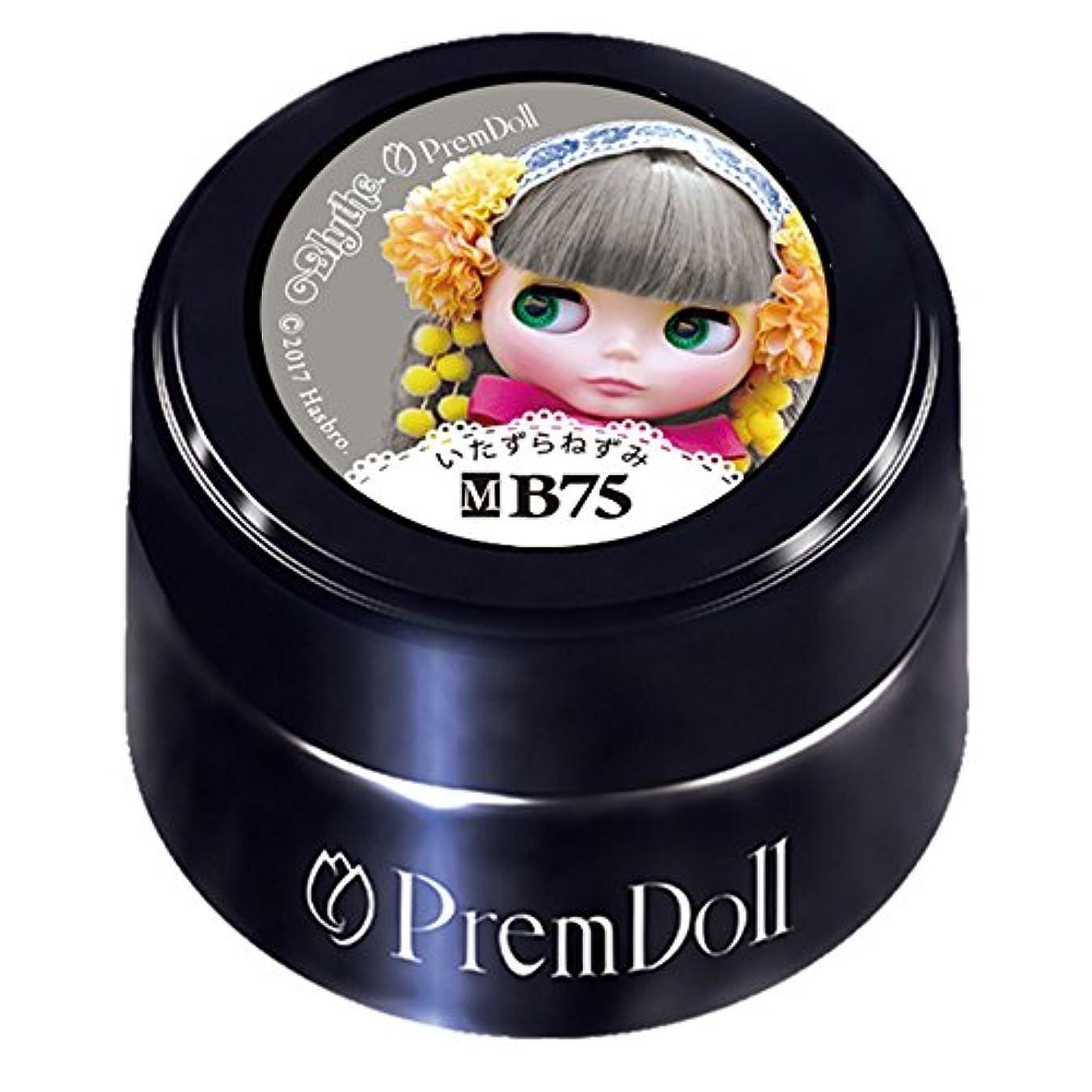 鼻ラップトップ不安定なPRE GEL プリムドール いたずらねずみ DOLL-B75 3g UV/LED対応 カラージェル
