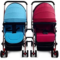 ツインベビーカーは、分割することができます軽いショックの赤ちゃんは、二重ベビーカーを横たわって座ることができます (色 : C)