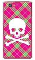 SECOND SKIN スカルパンク ピンク (クリア) / for Xperia Z1 f SO-02F/docomo DSO02F-PCCL-201-Y218