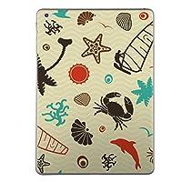 iPad Air2 スキンシール apple アップル アイパッド A1566 A1567 タブレット tablet シール ステッカー ケース 保護シール 背面 人気 単品 おしゃれ その他 チェック・ボーダー 海 夏 イルカ 003582