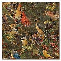 WGI Gallery WA-BBSB-2424 Berry Bush Songbirds Wall Art [並行輸入品]