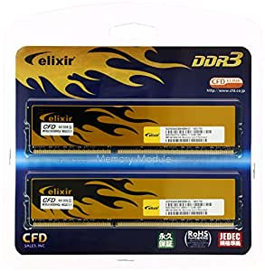 CFD-Elixir デスクトップ用DDR3 1600 Long DIMM 8GB 2枚組 CL11 W3U1600HQ-8GC11