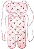 ベビーカー ベビーキャリー 保冷保温シート 綿100% ひえぽかサポートクッション 保冷(保温)剤2個付き クッション エルゴ (ローズブーケ)