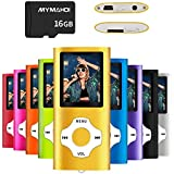MYMAHDI MP3/MP4 Music Player with 16 GB Micro SD Card(Expandable Up to 128GB),Supporting Photo Viewer,Voice Recorder,FM Radio,E-Book and Earphone Provided Color Gold