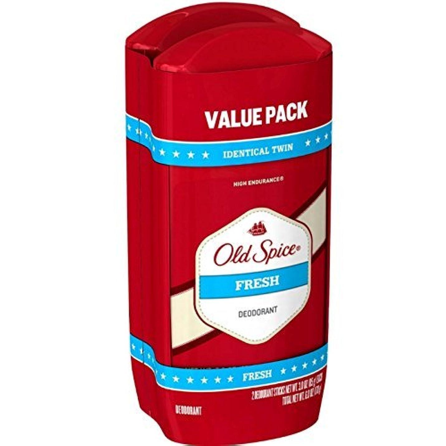 わなワーカー希少性Old Spice デオドラント3オンス新鮮なソリッド二アットワンス(88Ml)(2パック)