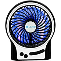 VersionTek 小型扇風機 卓上/充電池/USB扇風機 ミニ携帯ファン 静音サーキュレーター ブラック