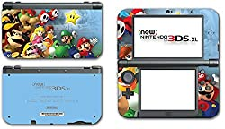 Super Mario Party Friends Island Tour Shy Guy Peach Yoshi Luigi Star Daisy Wario Bowser Video Game Vinyl Decal Skin Sticker Cover for the New Nintendo 3DS XL LL 2015 System Console by Vinyl Skin Designs [並行輸入品]