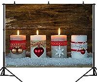 GooEoo 10×8FT(300×240CM)メリークリスマスパーティーのテーマカスタマイズされたシームレスなビニール写真の背景写真の背景スタジオプロップPGT189C