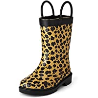 Puddle Play Leopard Girls Brown Rain Boots (Toddler/Little Kids)