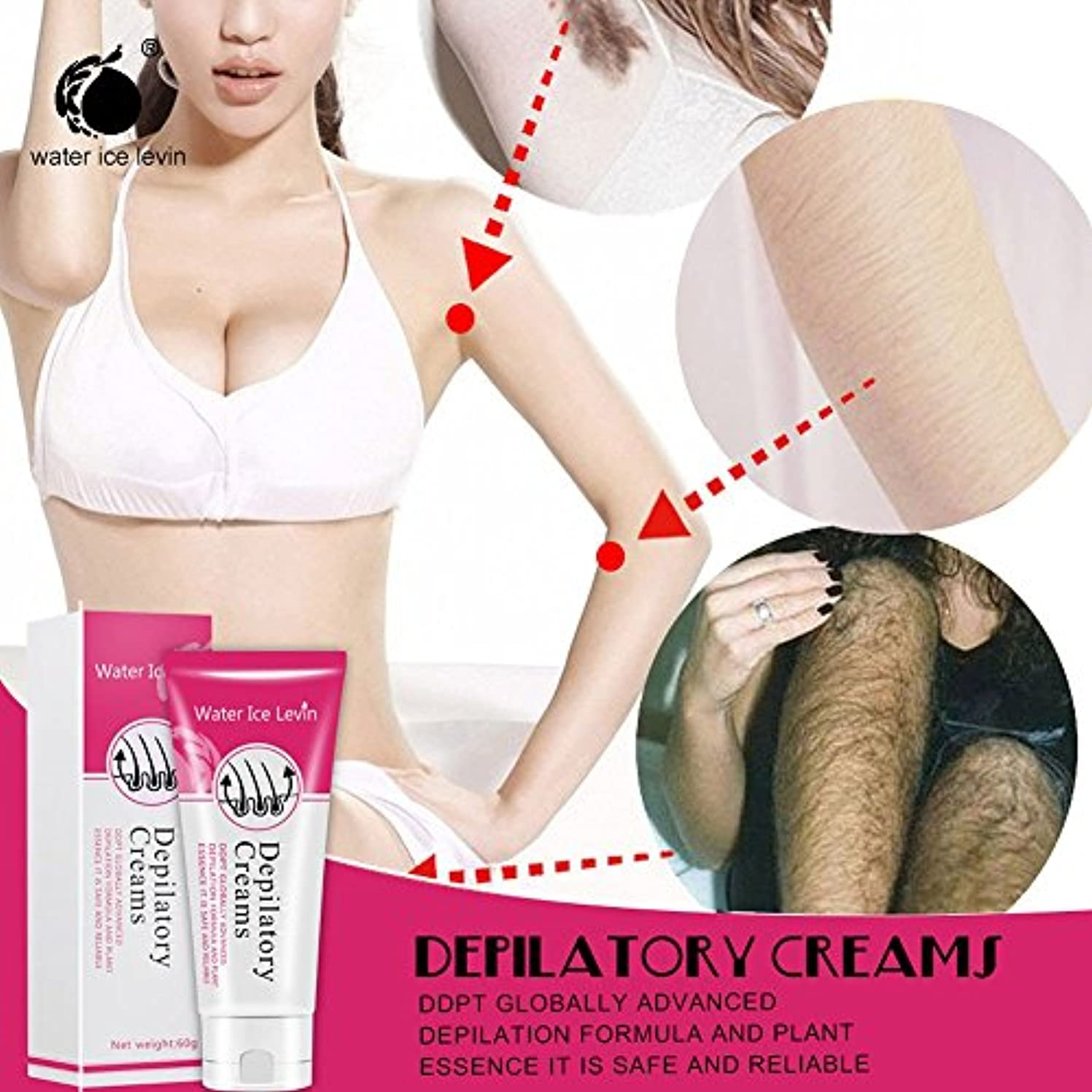 失うドット悲惨なSakuraBest Painless Depilatory Cream for Legs Armpit Hair Removal