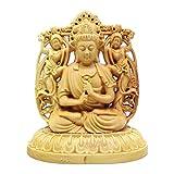 守り本尊 木彫り 仏像 彫刻 開運置物 (大日如来)