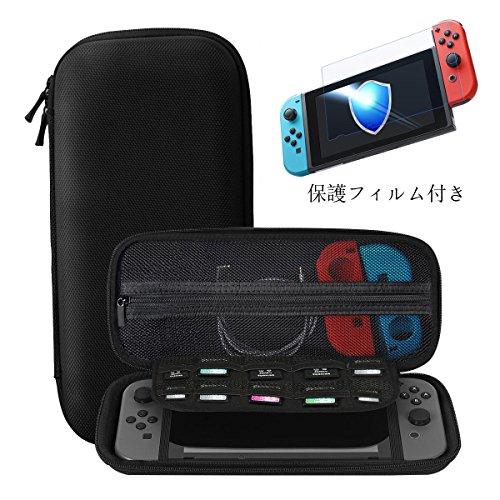 Nintendo Switch ケース 強化ガラス付き Ztotop ニンテ...