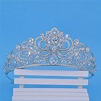 LilyAngel クイーンクラウン花嫁の結婚式ジルコンクラウンヘッドドレス結婚式のアクセサリー (Color : Silver)
