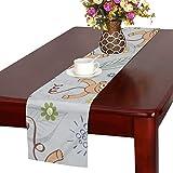 GGSXD テーブルランナー 面白い 猿 クロス 食卓カバー 麻綿製 欧米 おしゃれ 16 Inch X 72 Inch (40cm X 182cm) キッチン ダイニング ホーム デコレーション モダン リビング 洗える