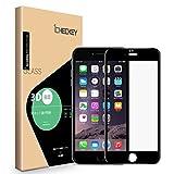 【2枚セット】Icheckey iPhone 6/iPhone 6s ガラスフィルム 3D曲面 炭素繊維 全面保護フィルム 全てのケースに干渉せず フルカバー 日本旭硝子ガラス素材 高硬度9H 耐衝撃 指紋防止 気泡ゼロ スクラッチ防止 超薄型 0.26mm ブラック