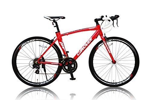 CANOVER(カノーバー) ロードバイク 700C シマノ14段変速 CAR-012 (ADOONIS) アルミフレーム フロントLEDライト付 レッド