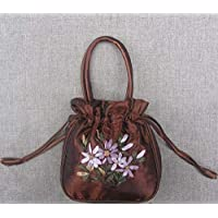 Chic Beautiful Chinese Style Gril Handmade Embroider Silk Bag Wristlet Womens