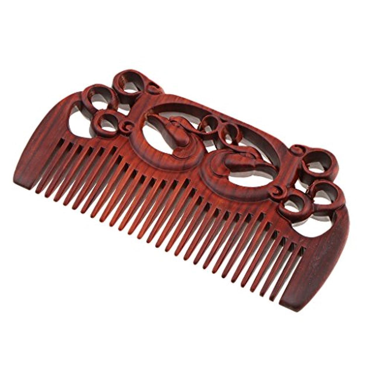 スラック国内の実用的B Blesiya ヘアコーム 木製櫛 頭皮マッサージ 櫛 プレゼント レトロ イプ選べる - #1