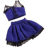 Lovoski  人形 ファッション トップ スカート 服装  レース付属  8インチブライスドール適用 装飾
