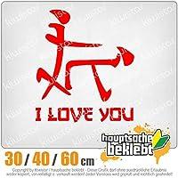 KIWISTAR - I Love YOU characters 15色 - ネオン+クロム! ステッカービニールオートバイ