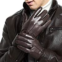 Leather Gloves for Men - Deluxe Sheep and Deer Skin Leather Men's Gloves Lined