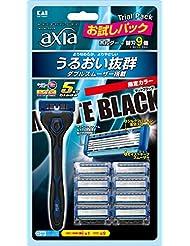 KAI RAZOR axia (カイ レザー アクシア) 5枚刃 ホルダー MATTEBLACK 替刃9コ付 バリューパック