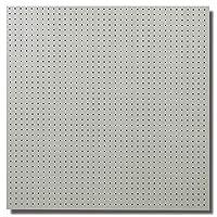 有孔ボード木目調 ヒッコリーホワイト ハーフ(4ミリ厚x横900ミリ×縦900ミリ) UKB-900900-2038-120 穴径5ミリ穴ピッチ25ミリ 1枚入