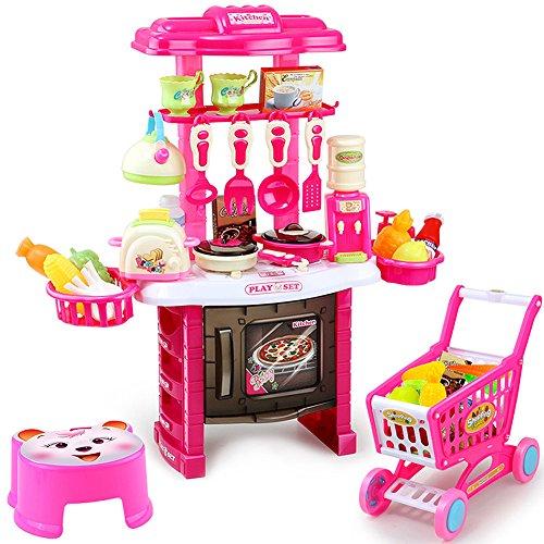 Kingstar キッチン セット ショッピングカートコンロ...