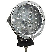 LEDサーチライト 60W 作業灯 ワークライト-POOPE 広角/狭角兼用 丸型 CREE製チップ 12V/24V対応 船舶用ledサーチライト トラック 車外灯 荷台灯 アウトドア 屋外作業 防水防塵 高品質 一年保証