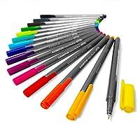 Staedtler Triplus Finelinerペン–メタルギフトTin of 15Brilliant色–0.3MM