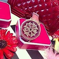 レディース腕時計 人気ブランド Mashali ラインストーン 高級ドレスウォッチ くるくる 回転文字盤 ブリラミコ風