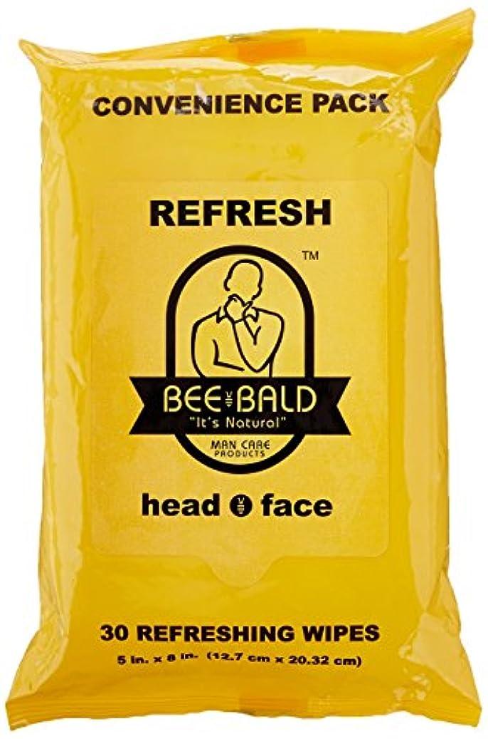 広々とした労苦ブロッサムBee Bald Refresh Head and Face Wipes 30 wipes by Bee Bald