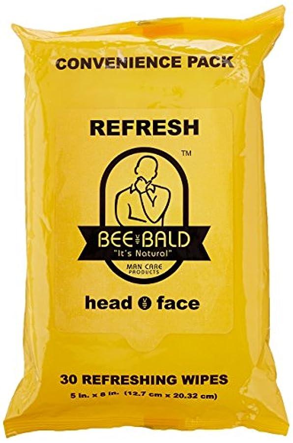 ペルソナ気質お肉Bee Bald Refresh Head and Face Wipes 30 wipes by Bee Bald