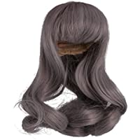 SONONIA ドール ウィッグ 髪 巻き毛  1/6 BJD SDドルフィー人形対応  DIYメイキング  アクセサリー  高温ワイヤー   全4色 - グレー