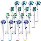 iTrunk ブラウン オーラルb 対応 电动歯ブラシ 替えブラシ 16本 マルチアクション ベーシックブラシ 4本×4セット braun oral-b 歯ブラシ 互换 歯垢除去 歯ケア