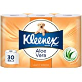 Kleenex Toilet Tissue Aloe Vera Toilet Paper, 11 x 10 cm (Pack of 30)