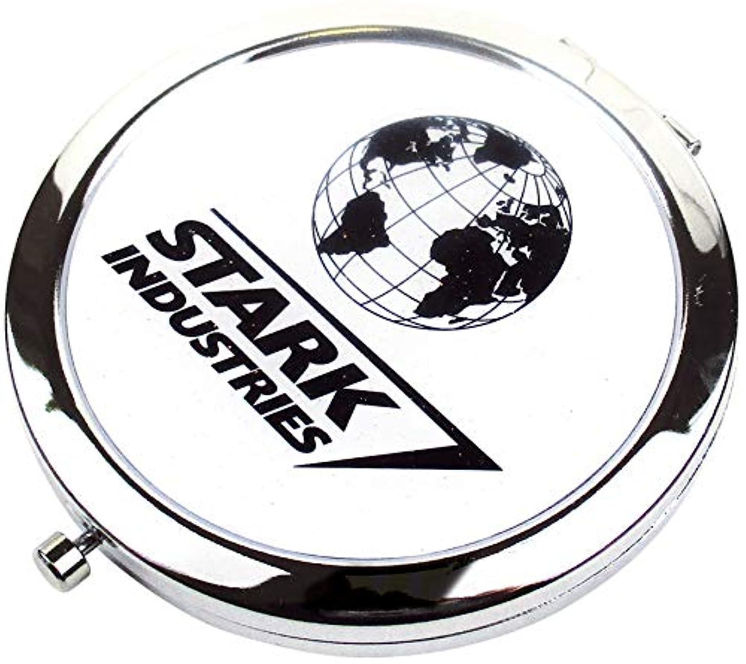 トン囲まれた満足できるティーズファクトリー Wコンパクトミラー マーベル/スターク・インダストリーズ 6.6×6.6×0.8cm MV-5537100SI