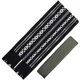 [キョウエツ] 角帯セット 日本製 献上柄 角帯+腰紐2点セット(角帯、腰紐) メンズ (黒)