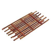 Sharplace 家や店やオフィス用 竹製 マット テーブルマット コースター 竹コースター 茶道