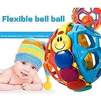 スキン ベビー 幼児 楽しいマルチカラー バウンスボール ガラガラ おもちゃ アクティビティ 教育玩具