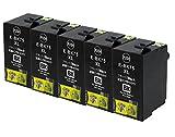 Epson エプソン ICBK75 ブラック 互換インクカートリッジ 単品5個セット 大容量タイプ ICチップ(残量表示機能)付き (単品5個セット)