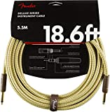 Fender シールドケーブル Deluxe Series Instrument Cable, Straight/Straight, 18.6', Tweed 08